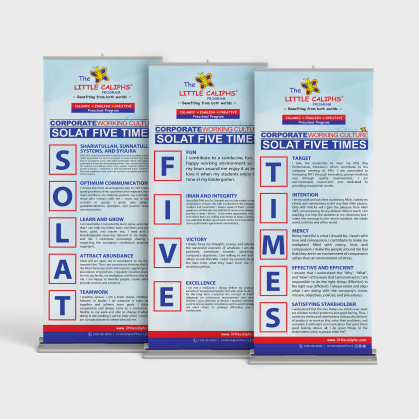 SOLAT FIVE TIMES roll up bunting(3pcs) pre-order