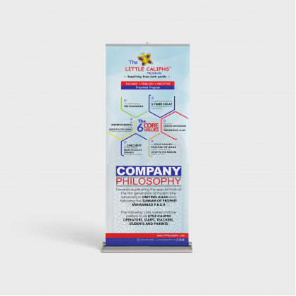Company Philosophy roll up bunting (4pcs) pre-order